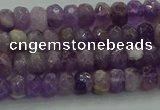 CNA1028 15.5 inches 4*6mm faceted rondelle dogtooth amethyst beads