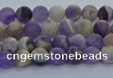 CNA1050 15.5 inches 4mm round matte dogtooth amethyst beads