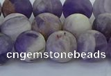 CNA1054 15.5 inches 12mm round matte dogtooth amethyst beads
