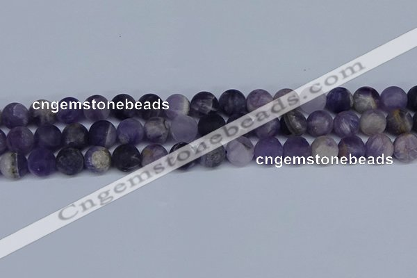 CNA1063 15.5 inches 10mm round matte dogtooth amethyst beads
