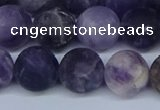 CNA1064 15.5 inches 12mm round matte dogtooth amethyst beads