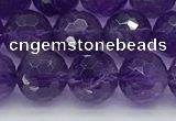 CNA1172 15.5 inches 8mm faceted round natural amethyst beads