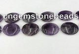 CNA1195 15.5 inches 30*40mm oval amethyst beads wholesale