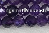 CNA774 15.5 inches 6mm faceted round amethyst gemstone beads