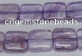 CNA840 15.5 inches 10mm square natural light amethyst beads