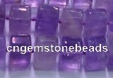 CNA902 15.5 inches 11*15*15mm faceted triangle natural amethyst beads
