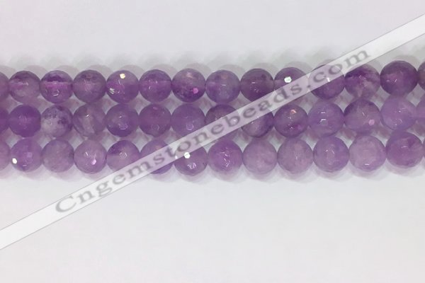CNA964 15.5 inches 8mm faceted round natural lavender amethyst beads