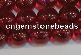 CNC414 15.5 inches 12mm round dyed natural white crystal beads