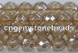 CNC519 15.5 inches 10mm faceted round dyed natural white crystal beads