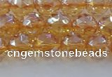 CNC652 15.5 inches 8mm faceted round plated natural white crystal beads