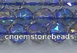 CNC666 15.5 inches 12mm faceted round plated natural white crystal beads