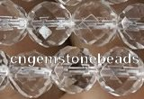CNC704 15.5 inches 10mm faceted round white crystal beads