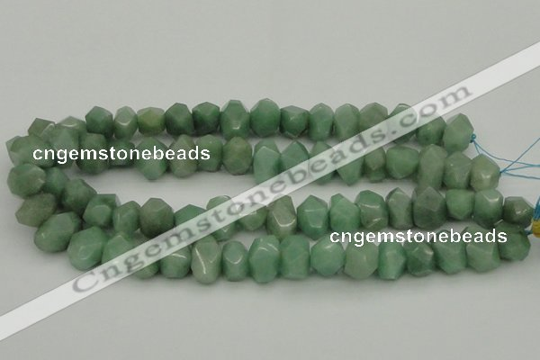 CNG1030 10*14mm - 13*18mm faceted nuggets green aventurine beads