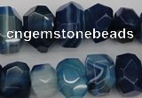 CNG1036 15.5 inches 10*14mm - 13*18mm faceted nuggets agate beads