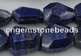 CNG1090 15.5 inches 15*20mm - 18*25mm faceted nuggets lapis lzuli beads