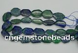 CNG1155 15.5 inches 20*25mm - 25*35mm freeform chrysocolla beads