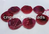 CNG1346 15.5 inches 52*55mm faceted freeform agate beads