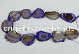 CNG1612 15.5 inches 25*35mm - 30*45mm freeform agate gemstone beads