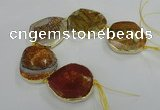 CNG1637 8 inches 40*45mm - 45*50mm freeform agate beads