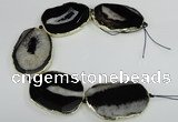 CNG1675 8 inches 35*35mm - 40*55mm freeform druzy agate beads