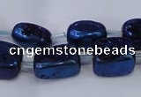 CNG2004 15.5 inches 8*12mm - 10*15mm nuggets plated quartz beads