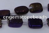 CNG2005 15.5 inches 8*12mm - 10*15mm nuggets plated quartz beads