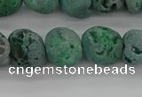 CNG2016 15.5 inches 8*10mm - 10*14mm nuggets plated druzy agate beads