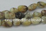 CNG207 15.5 inches 7*9mm nuggets feldspar gemstone beads