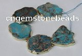 CNG2122 8 inches 30*45mm - 40*48mm freeform sea sediment jasper beads