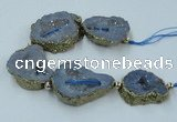 CNG2313 7.5 inches 25*35mm - 35*40mm freeform druzy agate beads