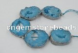 CNG2333 7.5 inches 35*40mm - 45*50mm freeform druzy agate beads