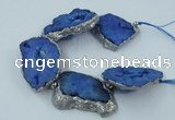 CNG2335 7.5 inches 35*40mm - 45*50mm freeform druzy agate beads