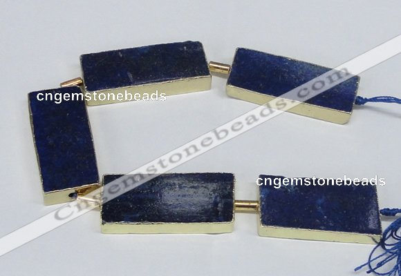 CNG2445 15.5 inches 20*40mm - 20*45mm freeform lapis lazuli beads