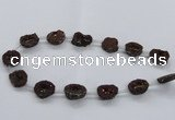 CNG2486 15.5 inches 15*20mm - 20*25mm freeform plated druzy agate beads