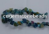 CNG2589 15.5 inches 13*18mm - 15*25mm nuggets plated druzy agate beads