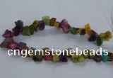 CNG2592 15.5 inches 13*18mm - 15*25mm nuggets plated druzy agate beads