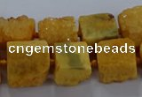 CNG2618 15.5 inches 10*12mm - 14*16mm nuggets druzy agate beads