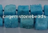CNG2621 15.5 inches 10*12mm - 14*16mm nuggets druzy agate beads