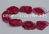 CNG2676 15.5 inches 30*40mm - 40*50mm freeform druzy agate beads