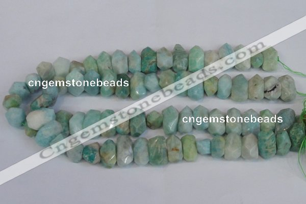 CNG2700 15.5 inches 10*14mm - 13*18mm faceted nuggets amazonite beads