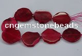 CNG2786 15.5 inches 35*40mm - 45*50mm freeform agate beads