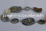 CNG2840 20*25mm - 32*50mm freeform druzy agate beads wholesale