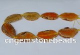 CNG2950 15.5 inches 25*35mm - 30*50mm freeform agate beads