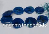 CNG2961 15.5 inches 42*45mm - 45*50mm faceted freeform agate beads