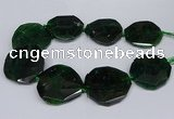 CNG2962 15.5 inches 42*45mm - 45*50mm faceted freeform agate beads