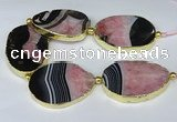 CNG3038 7.5 inches 35*45mm - 40*55mm freeform druzy agate beads