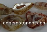 CNG3060 15.5 inches 13*18mm - 18*25mm freeform druzy agate beads