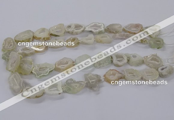 CNG3061 15.5 inches 13*18mm - 18*25mm freeform druzy agate beads
