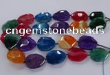 CNG3111 15.5 inches 25*35mm - 30*40mm faceted freeform agate beads