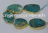 CNG3121 8 inches 30*45mm - 40*50mm freeform ocean agate beads